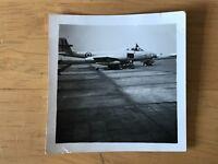 Photograph Gloster Meteor PR 10 RAF Athan Aircraft Aeroplane Ground Crew 50s 10f