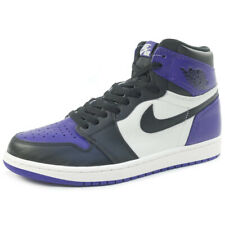 NIKE AIR JORDAN 1 RETRO HIGH OG COURT PURPLE 555088-501 Sneakers WHITE US 10