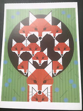 CHARLEY CHARLES HARPER   Foxsimiles  New Art  print   Momma Fox 10  kits  in den