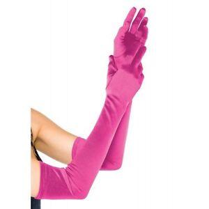 LA-16B Sexy Purple Satin Extra Long Opera Prom Evening Burlesque Gloves