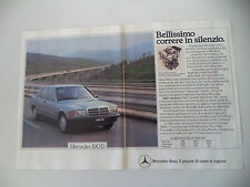 advertising Pubblicità 1984 MERCEDES BENZ 190 D