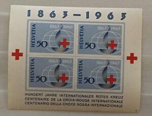 Switzerland 1963 MS575a International Red Cross Centenary UM Plate 5 Cat £11.50