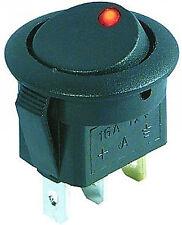 KFZ-Schalter Wippenschalter rund LED-beleuchtet EIN/AUS 12V 16A