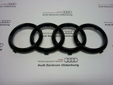 """Original Audi Ringe """"black Edition"""", Audi Ringe für Kühlergrill schwarz glänzend"""