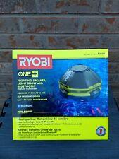 Ryobi Floating Pool Speaker/ Light Show With Bluetooth / P3520 One + 18V