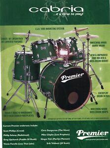 2003 Print Ad of Premier Cabria Emerald Green Drum Kit