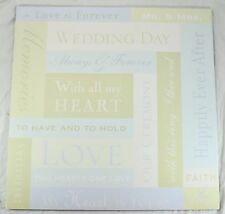 12x12 LB Wedding Words Craft Scrapbook Paper 20 Sheets K & Company New Old Stock