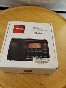 Sangean HDR-14 portable AM/FM HD radio with original box