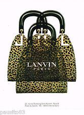 PUBLICITE ADVERTISING 065  1997  LANVIN  maroquinerie collection sac