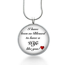 Blessed Wife Necklace - Family Jewelry - Handmade - Art Pendant