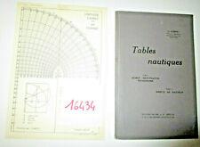 N°16434  / livre technique : tables nautiques 1928
