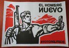 """POLITICAL ART SERIGRAPH SILKSCREEN POSTER """"EL HOMBRE NUEVO"""" THE NEW MAN CARTEL"""