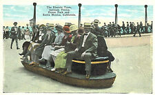 Vintage Postcard-The Electric Tram, between Venice, Ocean Park,Santa Monica, CA