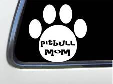 "ThatLilCabin - Pitbull Mom Paw Print 6"" As1549 car sticker decal"