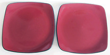 CORELLE HEARTHSTONE STONEWARE SET OF 2 (TWO) CHILI RED DINNER PLATES