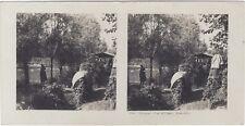 Grande Guerre Défense d'un village Tranchée WW1 Photo Stereo Vintage Argentique