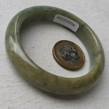 53mm Certified Type A Jadeite Bangle Yellow Green Jade