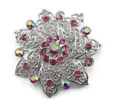 Bridal Wedding Brooch Pin Pink Attractive Austrian Rhinestone Crystal