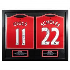 Manchester United F.c.. Giggs & Scholes Signed Shirts (dual Framed)