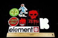 Skateboard Stickers Spitfire Element Santa Cruz Girl Independent Zero Plan B