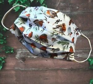 Kids Teenagers Face Mask, Double Layer, ROBINS  Handmade POSTED IN 24HOURS