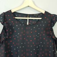 [ BASQUE ] Womens Floral Print Cold shoulder Blouse Top | Size AU 16 or US 12