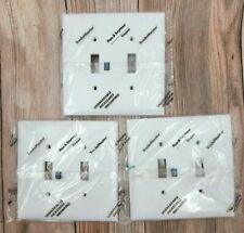 3 Pass & Seymour White Jumbo 2-Gang Nylon Toggle Switch Wall Plate Cover TPJ2-W