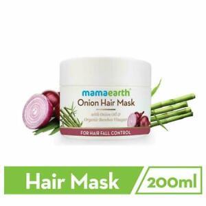 Mamaearth Onion Hair Mask Hair Fall Control/Organic Bamboo Vinegar200mlFree Ship