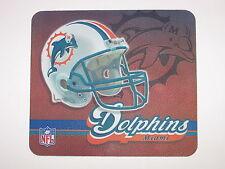"Miami Dolphins 9"" x 8"" Neoprene Logo Computer Mousepad"