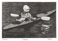 Ocean kayak limited edition etching print