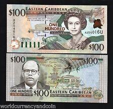EAST CARIBBEAN STATES ANGUILLA 100 DOLLARS P41 U 2000 QUEEN TURTLE UNC RARE NOTE