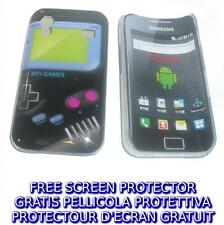 Pellicola+custodia BACK COVER GAMEBOY NERO rigida per Samsung Galaxy Ace S5830