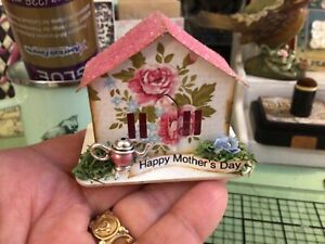Tim Holtz Paper Village MINIATURE PAPER HOUSE Putz-Like 'Happy Mother's Day' #2
