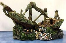 Kazoo Galleon W/treasure Shipwreck Ship Boat Aquarium Ornament Decoration