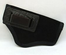 SUEDE LEATHER INSIDE PANTS GUN HOLSTER FITS COMPACT AUTOS 9mm/40, XD-9/40 BLACK