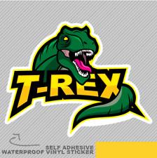 T Rex Tiranosaurio Dino cabeza Vinilo Pegatina Calcomanía ventana de coche furgoneta bicicleta 2572