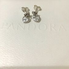 *NEW* Genuine Pandora S925 ALE Love Locks Heart Stud Dangling Earrings 296575