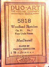 Duo-Art MacDowell WOODLAND SKETCHES Op51 No7 Uncle Remus 5818 Player Piano Roll