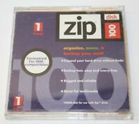 iOmega Zip Disk 100 IBM Formatted Single Diskette 100MB Storage Capacity
