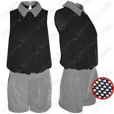 Regular Sleeveless Textured Jumpsuits & Playsuits for Women
