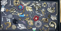45+ Unique Vintage Sparkle Silver & Gold Tone Brooch Pin Lot Lisner Pastelli JJ