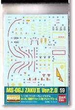 GUNDAM DECALS # 59 MG ZAKU II BANDAI GUNDAM A-8594 4543112574633