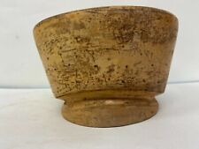 """Vtg Superb Wood Wooden Hat Block Head Style Form Display Mold Millinery 21""""1/2in"""