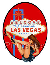 Sexy Pinup Girl Waterslide Decal Sticker S1031 Old Las Vegas Welcome Sign