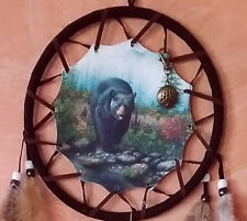 """LARGE 27"""" HANDMADE NATIVE AMERICAN DESIGN BEAR DREAMCATCHER WITH BEARCLAW AMULET"""