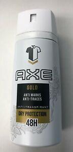 """AXE """"Gold"""" Anti-Perspirant Men Body Spray150mL Ea. ( 6 Cans )"""