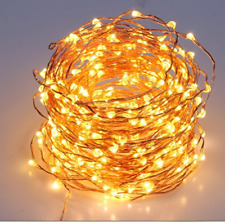 LED Fairy String Lights 200 Warm White 65.6 ft Copper Wire Plug-In Decor Party