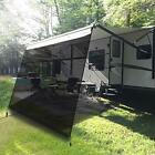 EXCELFU RV Awning Shade Screen with Zipper 10' x 9'