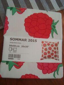 "IKEA Summer SOMMAR 2015 Cushion Cover Country Fruits Raspberries Pears 20x20"""