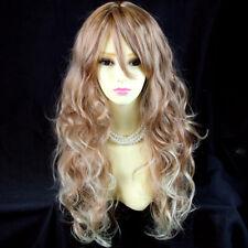 Wiwigs Fabulous Long Curly Blonde mix Auburn Heat Resistant Ladies Wigs